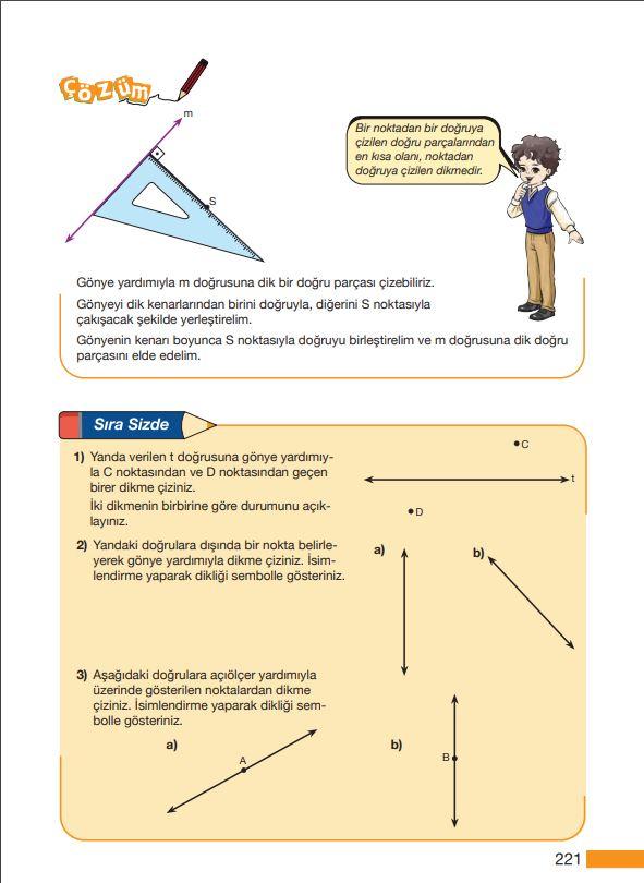 5. Sınıf Matematik Ders Kitabı Çözümleri ve Cevapları Sayfa 221 MEB Yayınları