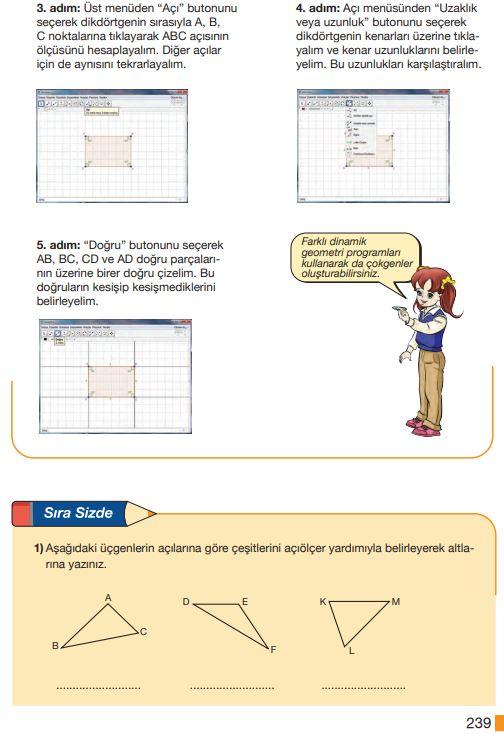 5. Sınıf Matematik Ders Kitabı Çözümleri ve Cevapları Sayfa 239 MEB Yayınları