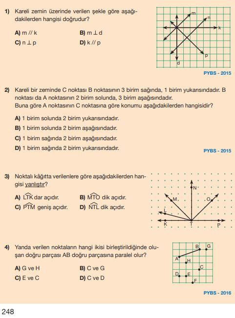 5. Sınıf Matematik Ders Kitabı Çözümleri ve Cevapları Sayfa 248 MEB Yayınları