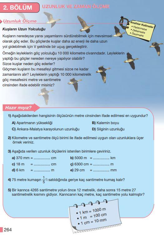 5. Sınıf Matematik Ders Kitabı Çözümleri ve Cevapları Sayfa 264 MEB Yayınları