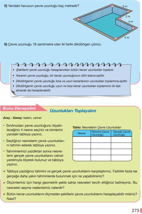 5. Sınıf Matematik Ders Kitabı Çözümleri ve Cevapları Sayfa 273 MEB Yayınları