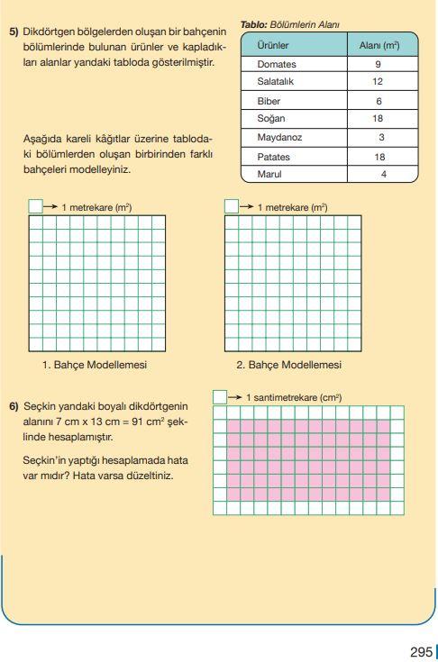 5. Sınıf Matematik Ders Kitabı Çözümleri ve Cevapları Sayfa 295 MEB Yayınları