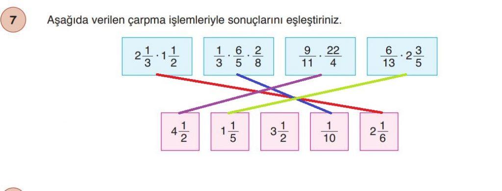 6. Sınıf Matematik Ders Kitabı Çözümleri ve Cevapları Sayfa 111-7 Öğün Yayınları