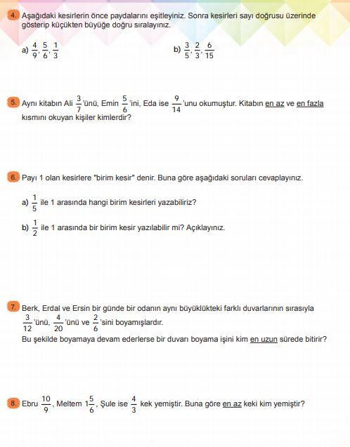 6. Sınıf Matematik Ders Kitabı Çözümleri ve Cevapları Sayfa 114 MEB Yayınları