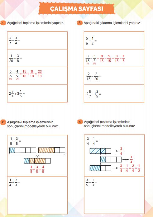 6. Sınıf Matematik Ders Kitabı Çözümleri ve Cevapları Sayfa 118 MEB Yayınları