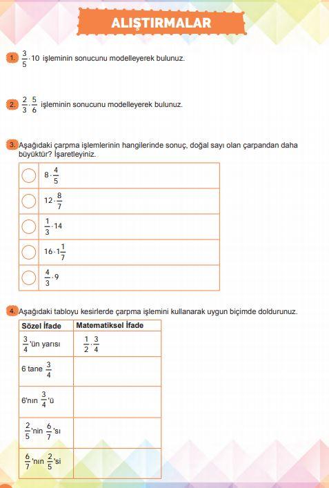6. Sınıf Matematik Ders Kitabı Çözümleri ve Cevapları Sayfa 128 MEB Yayınları