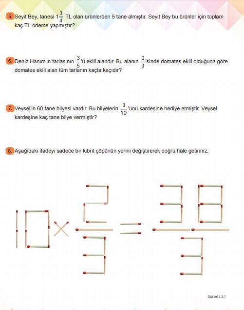 6. Sınıf Matematik Ders Kitabı Çözümleri ve Cevapları Sayfa 129 MEB Yayınları
