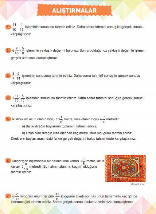 6. Sınıf Matematik Ders Kitabı Çözümleri ve Cevapları Sayfa 148 MEB Yayınları