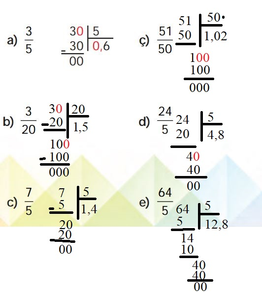6. Sınıf Matematik Ders Kitabı Çözümleri ve Cevapları Sayfa 162-3 MEB Yayınları