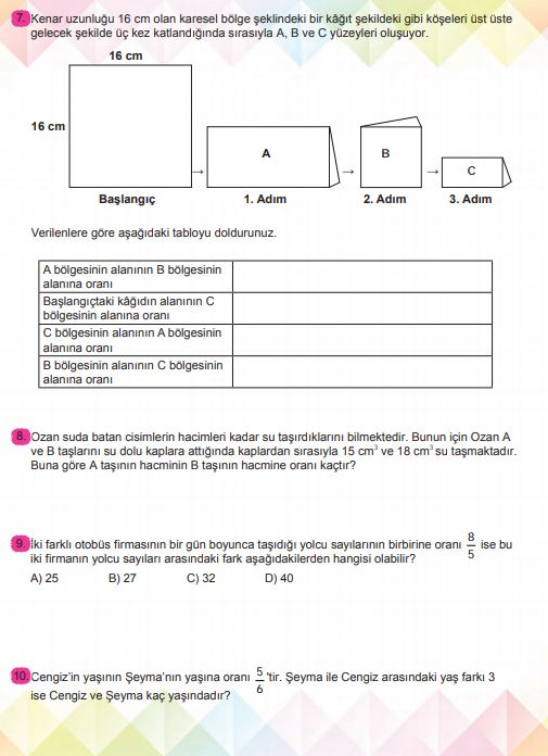 6. Sınıf Matematik Ders Kitabı Çözümleri ve Cevapları Sayfa 208 MEB Yayınları