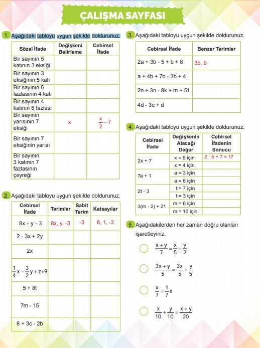 6. Sınıf Matematik Ders Kitabı Çözümleri ve Cevapları Sayfa 220 MEB Yayınları
