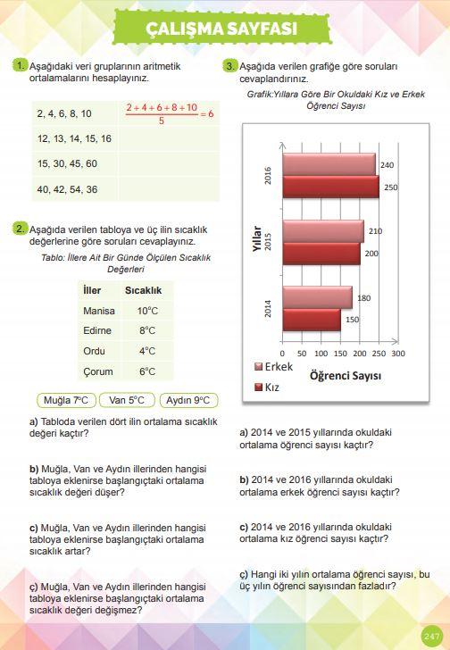 6. Sınıf Matematik Ders Kitabı Çözümleri ve Cevapları Sayfa 247 MEB Yayınları