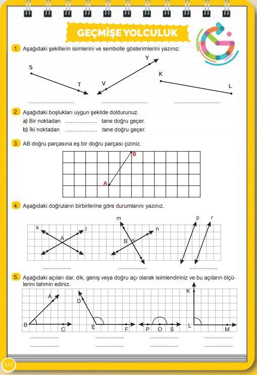 6. Sınıf Matematik Ders Kitabı Çözümleri ve Cevapları Sayfa 260 MEB Yayınları