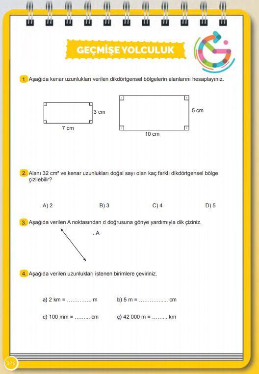 6. Sınıf Matematik Ders Kitabı Çözümleri ve Cevapları Sayfa 276 MEB Yayınları