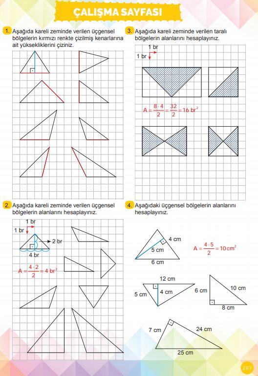 6. Sınıf Matematik Ders Kitabı Çözümleri ve Cevapları Sayfa 287 MEB Yayınları