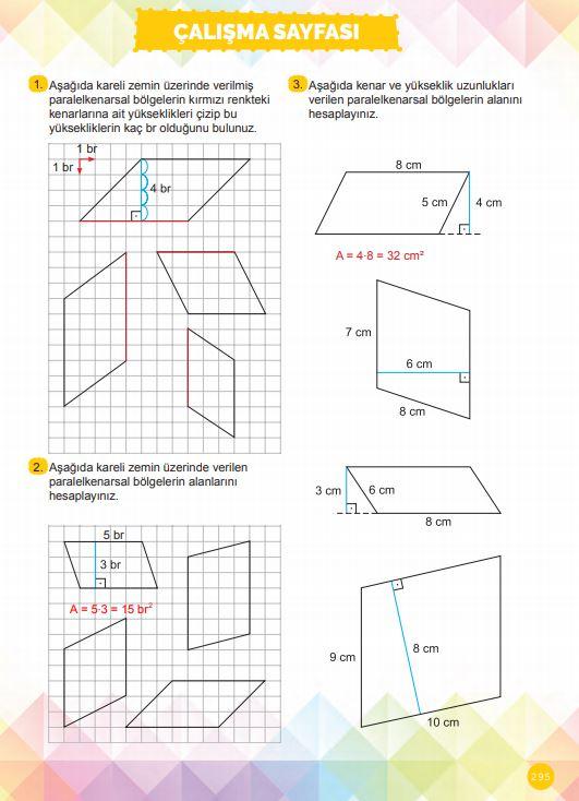 6. Sınıf Matematik Ders Kitabı Çözümleri ve Cevapları Sayfa 295 MEB Yayınları