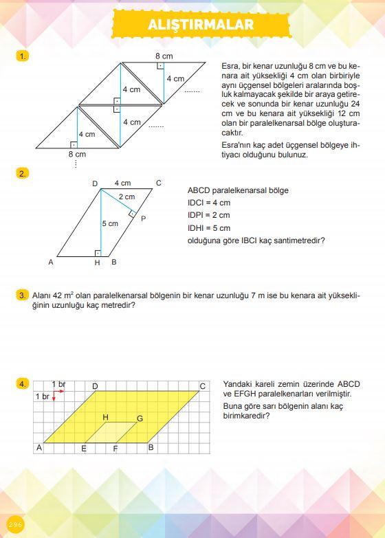 6. Sınıf Matematik Ders Kitabı Çözümleri ve Cevapları Sayfa 296 MEB Yayınları