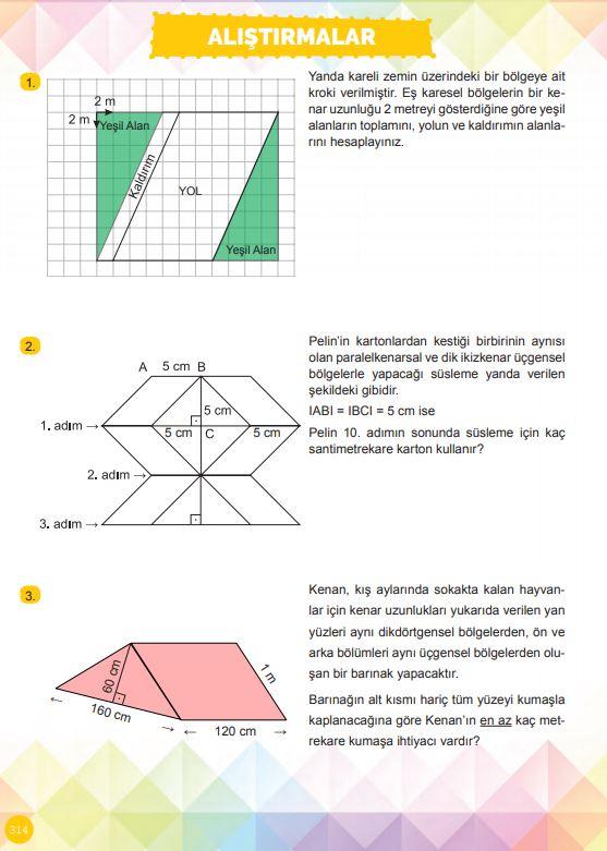 6. Sınıf Matematik Ders Kitabı Çözümleri ve Cevapları Sayfa 314 MEB Yayınları