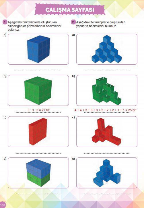 6. Sınıf Matematik Ders Kitabı Çözümleri ve Cevapları Sayfa 338 MEB Yayınları