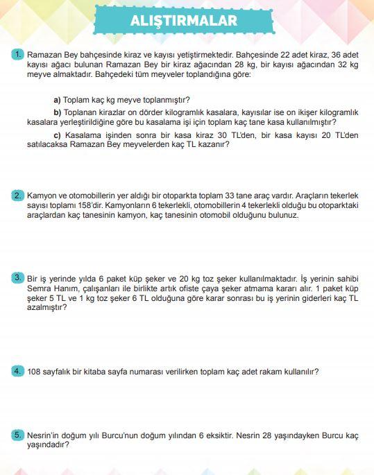 6. Sınıf Matematik Ders Kitabı Çözümleri ve Cevapları Sayfa 37 MEB Yayınları