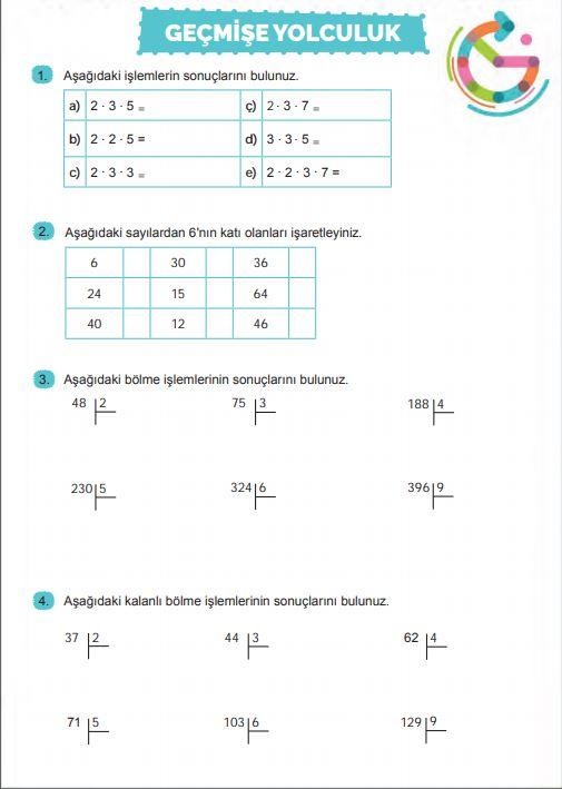 6. Sınıf Matematik Ders Kitabı Çözümleri ve Cevapları Sayfa 40 MEB Yayınları