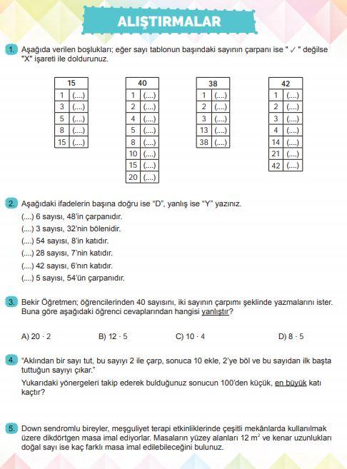 6. Sınıf Matematik Ders Kitabı Çözümleri ve Cevapları Sayfa 45 MEB Yayınları