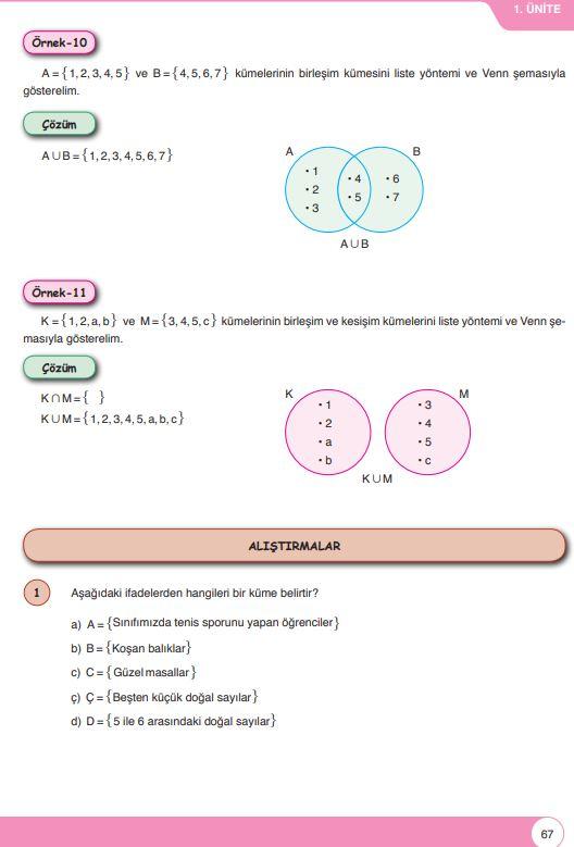 6. Sınıf Matematik Ders Kitabı Çözümleri ve Cevapları Sayfa 67 Öğün Yayınları