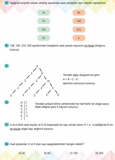 6. Sınıf Matematik Ders Kitabı Çözümleri ve Cevapları Sayfa 68 MEB Yayınları