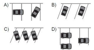 Aşağıdakilerin hangisindeki araçlar park yerine uygun şekilde park edilmiştir