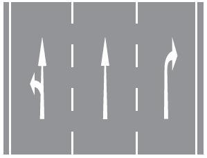 Kavşaklara yaklaşırken yol üzerine çizilmiş şekildeki oklar sürücülere neyi bildirir
