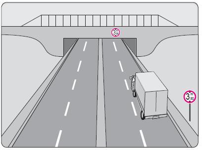 Şekildeki kamyon sürücüsü alt geçitten geçerken aşağıdakilerden hangisini dikkate almalıdır