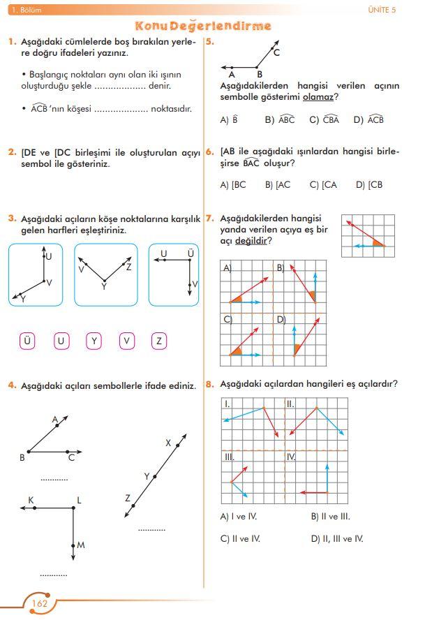 6. Sınıf Matematik Ders Kitabı Çözümleri ve Cevapları Sayfa 162 MEB Yayınları