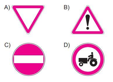 Aşağıdakilerden hangisi yol ver işaretidir