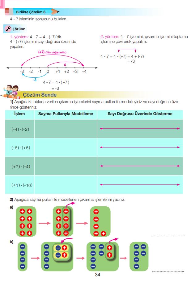 7. Sınıf Matematik Ders Kitabı Çözümleri ve Cevapları Sayfa 34 MEB Yayınları