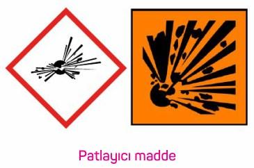 Patlayıcı Maddeler Piktogram